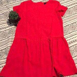Cynthia Rowley    Red Drop Waist Dress